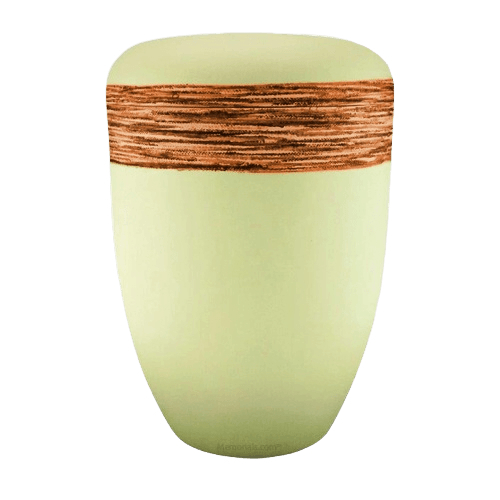 Fiber Orange Biodegradable Urn