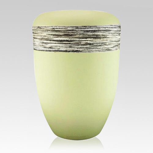Fiber Silver Biodegradable Urn