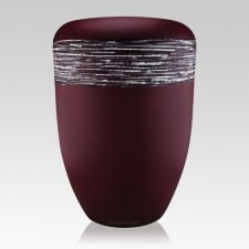 Himmel Red Silver Biodegradable Urn