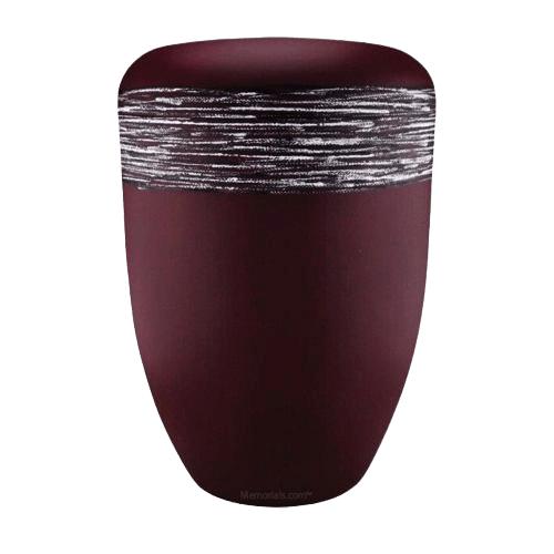 Himmel Red Silver Biodegradable Urn
