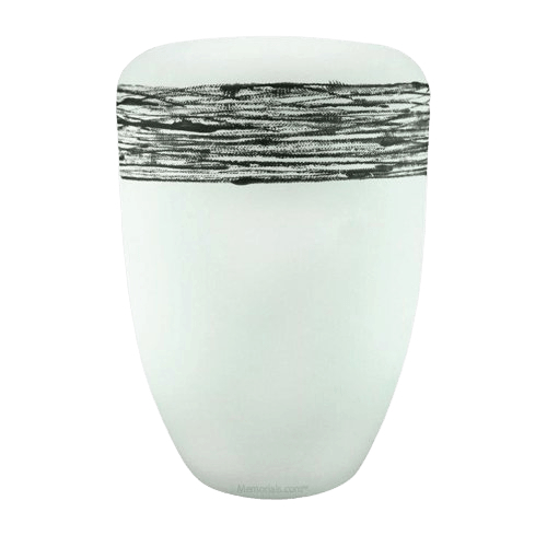Himmel White Silver Biodegradable Urn