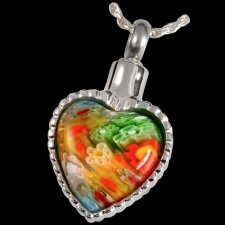 Hippie Heart Cremation Pendant