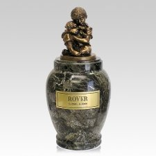 His Best Doggy Marble Cremation Urn