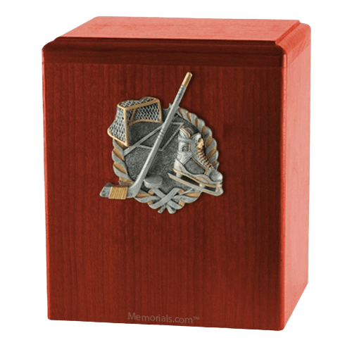Hockey Fan Cherry Cremation Urn