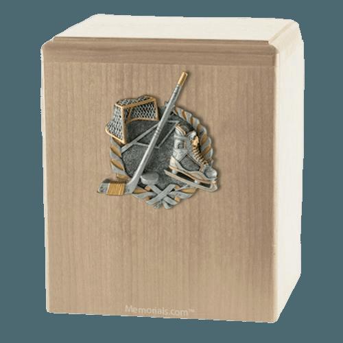 Hockey Fan Maple Cremation Urn