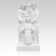 Holy Family Granite Statue VII