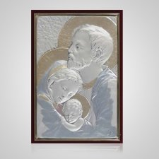 Holy Family Silver Medallion Appliques