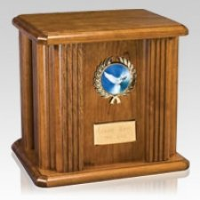 Holy Spirit Wood Cremation Urn