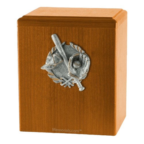 Home Run Oak Cremation Urn