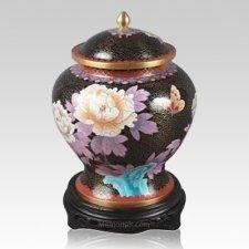 Hong Kong Black Keepsake Cloisonne Urns