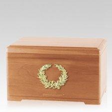 Honor Wreath Light Cherry Cremation Urn