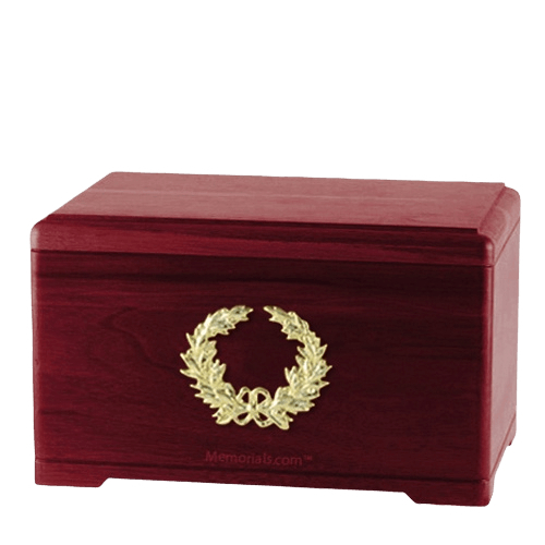 Honor Wreath Rosewood Cremation Urn