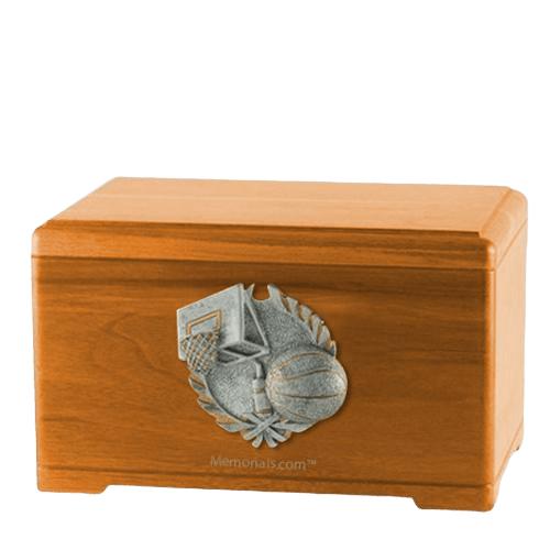 Hoops Fan Oak Cremation Urn
