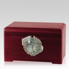 Hoops Fan Rosewood Cremation Urn