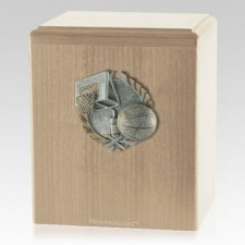 Hoops Maple Cremation Urn