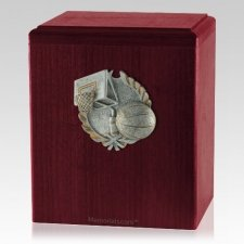 Hoops Rosewood Cremation Urn