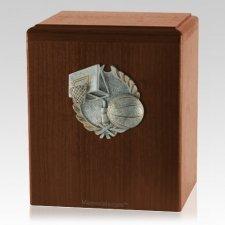 Hoops Walnut Cremation Urn