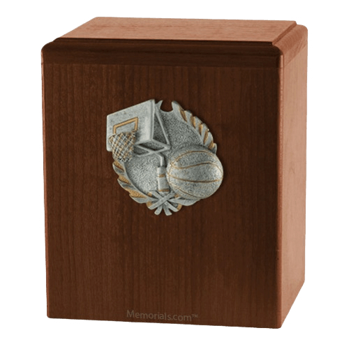 Hoops Walnut Cremation Urn