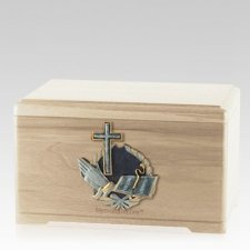 Hope Prayer Maple Cremation Urn
