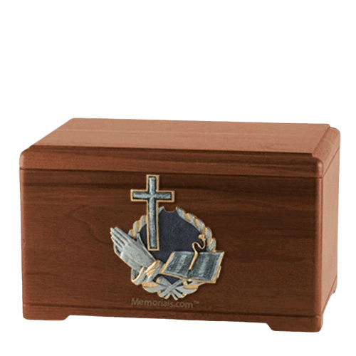Praying Bible Walnut Cremation Urn
