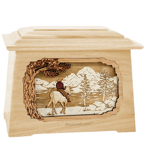 Horse & Lake Maple Aristocrat Cremation Urn