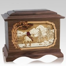 Horse & Lake Wood Cremation Urns