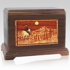 Horse & Mountain Cremation Urns For Two