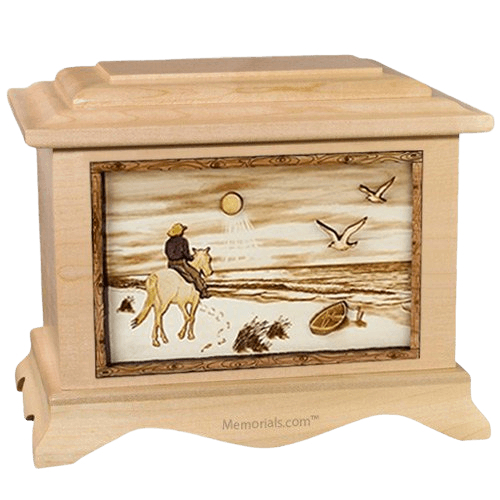 Horse Beach Maple Cremation Urn