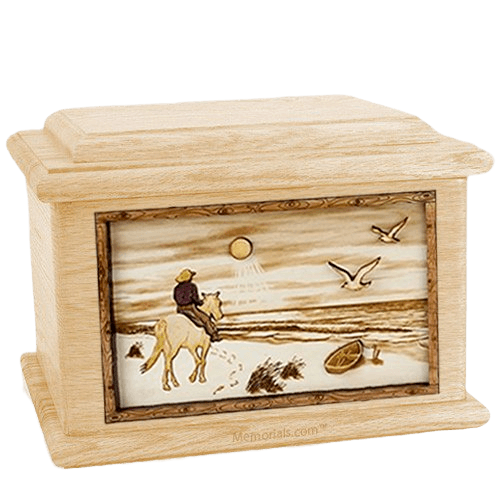 Horse Beach Maple Memory Chest Cremation Urn