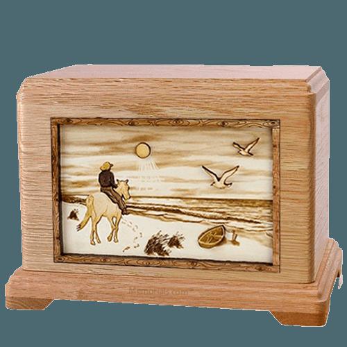 Horse Beach Oak Hampton Cremation Urn