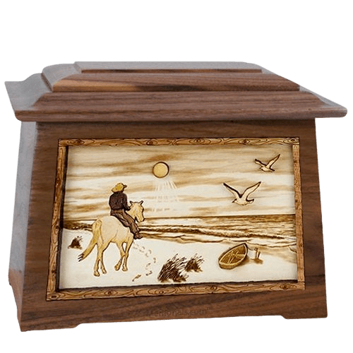 Horse Beach Walnut Aristocrat Cremation Urn