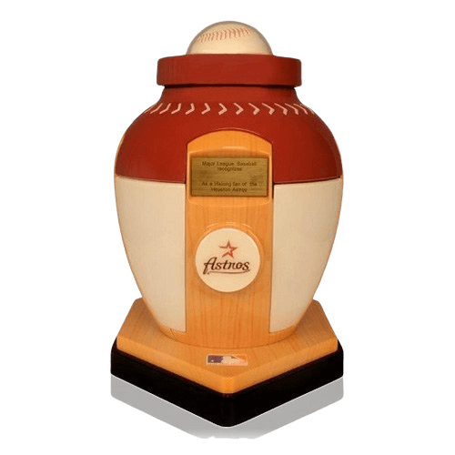 Houston Astros Baseball Cremation Urn