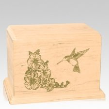 Hummingbird Companion Maple Wood Urn
