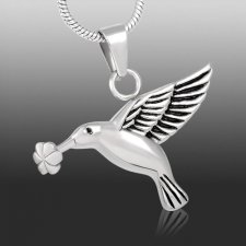 Hummingbird Cremation Necklace