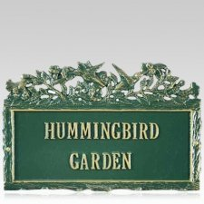 Hummingbird Dedication Plaque