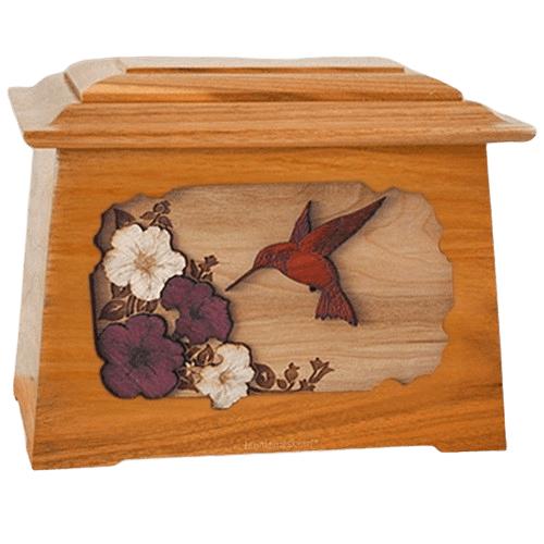 Hummingbird Mahogany Aristocrat Cremation Urn