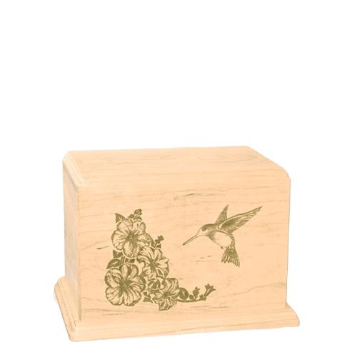 Hummingbird Small Maple Wood Urn