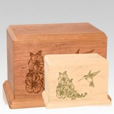 Hummingbird Wood Urns