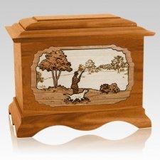 Hunter Mahogany Cremation Urn