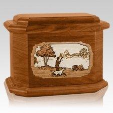 Hunter Mahogany Octagon Cremation Urn