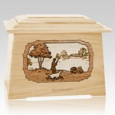 Hunter Maple Aristocrat Cremation Urn