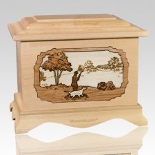 Hunter Maple Cremation Urn