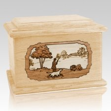Hunter Maple Memory Chest Cremation Urn