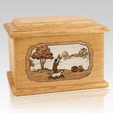 Hunter Oak Memory Chest Cremation Urn