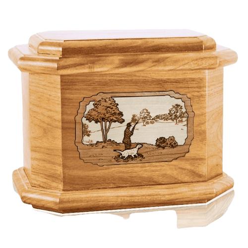 Hunter Oak Octagon Cremation Urn
