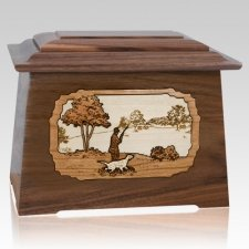 Hunter Walnut Aristocrat Cremation Urn