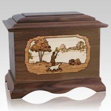 Hunter Walnut Cremation Urn