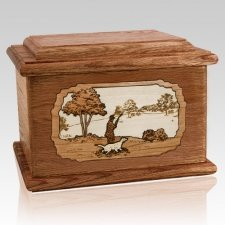 Hunter Walnut Memory Chest Cremation Urn
