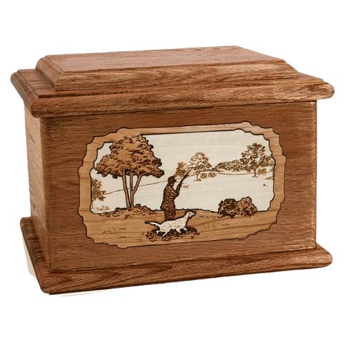 Hunter Walnut Memory Chest Cremation Urn