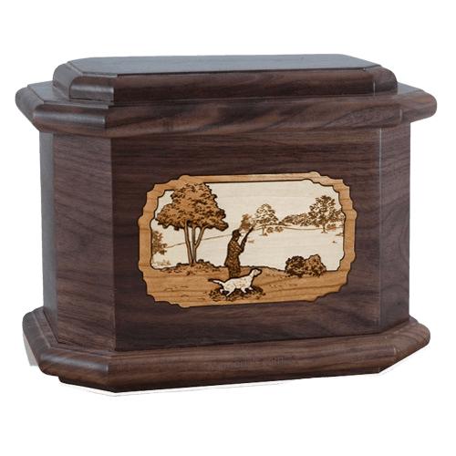 Hunter Walnut Octagon Cremation Urn